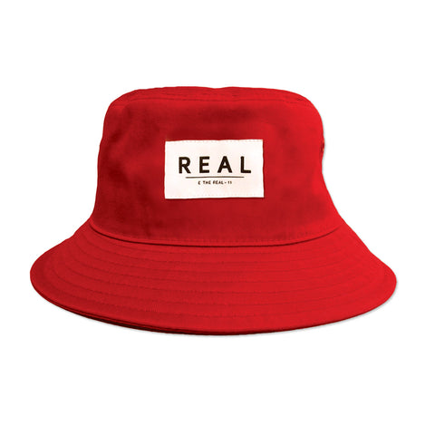 Red Bold Label Bucket Hat