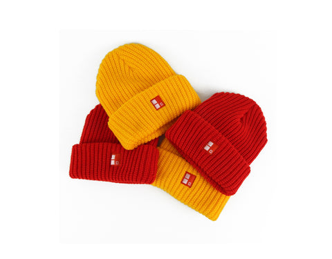 Boundary Stamp Beanie in Yellow