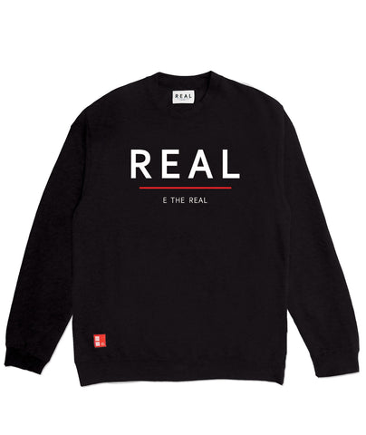 Bold Label Crewneck in Black