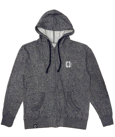 Navy-Heather French Terry Logo Hoodie