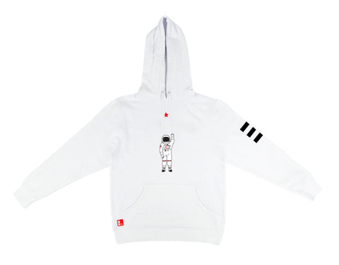 Icon Hooded Sweatshirt in White