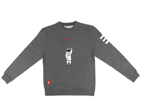 Icon Crewneck Sweatshirt in Gunmetal