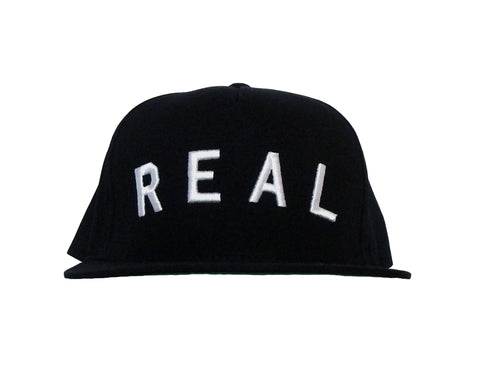 Real Snapback Hat in Black