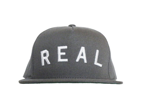 Real Snapback Hat in Grey