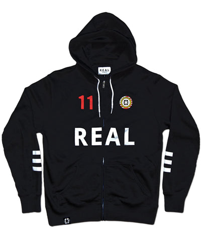 E THE REAL Real Lawrence Hoodie in Black