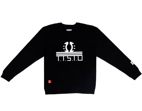 To The Stars Through Difficulties Crewneck Sweatshirt in Black