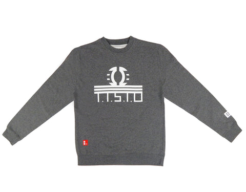 To The Stars Through Difficulties Crewneck Sweatshirt in Gunmetal