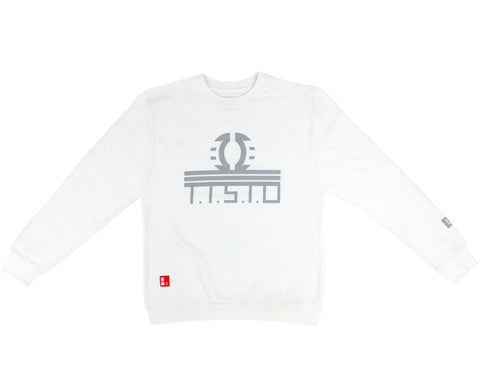 To The Stars Through Difficulties Crewneck Sweatshirt in White