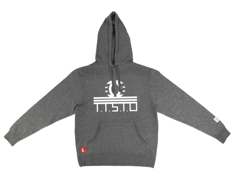 To The Stars Through Difficulties Hooded Sweatshirt in Gunmetal