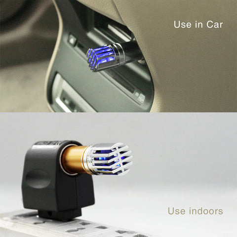 Use car air purifier both in home and car