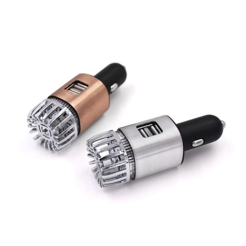 2 in 1 Car Air Purifier & Dual USB Car Charger ACP-91
