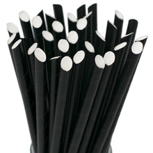 Load image into Gallery viewer, Black Boba Paper Straws