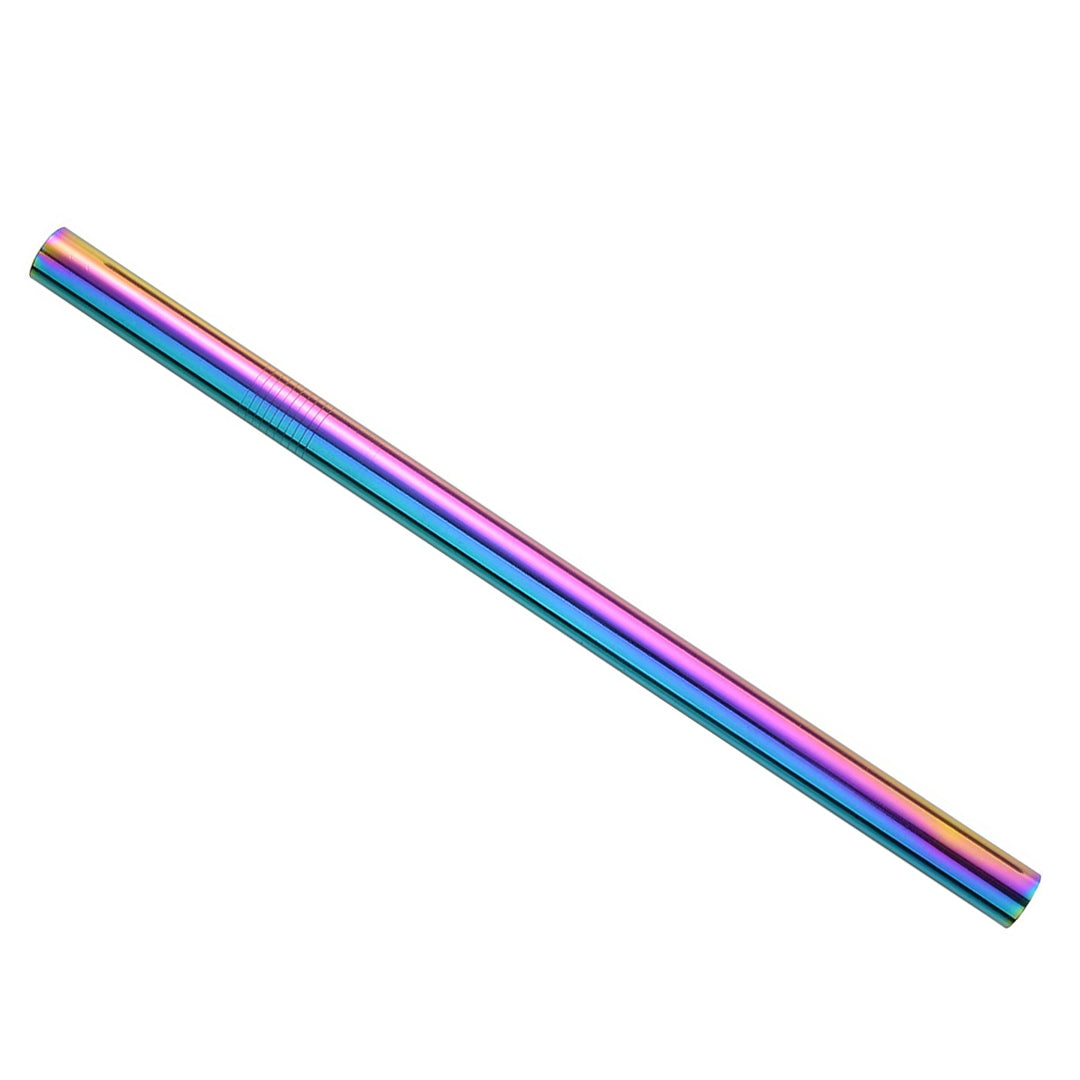 Rainbow Metal Boba Straws