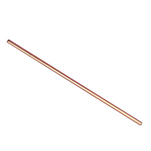 Rose Gold Metal Straws