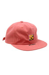 Cotton Nylon Strapback Cap Peach
