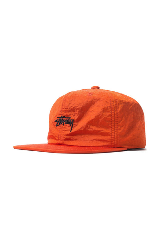 Stock Nylon Strapback Cap Orange
