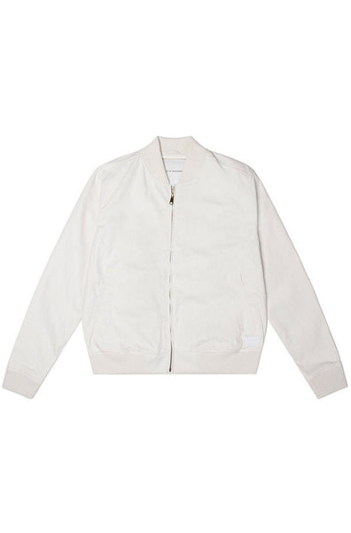 Garth Bomber jacket White