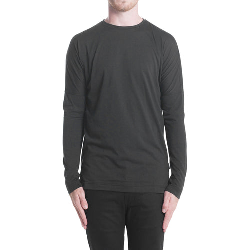 L/S DROP SHOULDER TEE BLACK