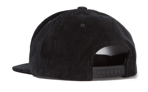 Washed Cord Cap Black