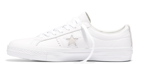 One Star Premium Leather White/White/Black