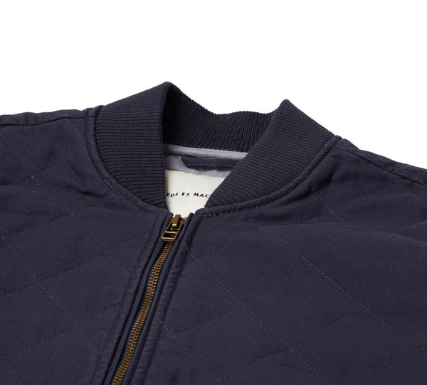Elias Quilted Bomber Navy