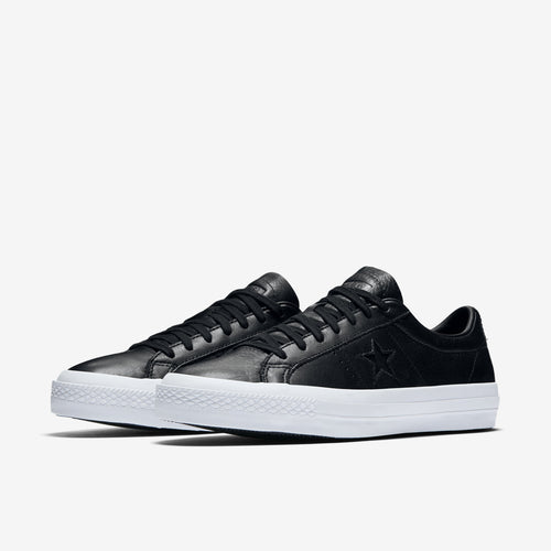 One Star Premium Leather Black/White/Black
