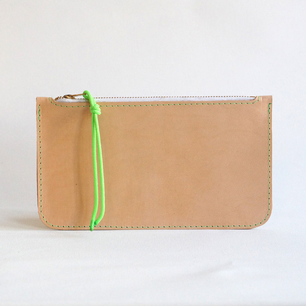 leather zip pouch | Torba | leer rits etui - studio ROWOLD