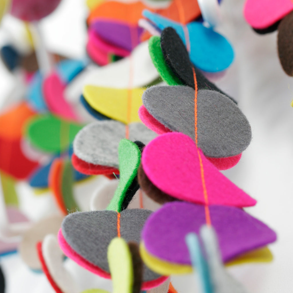 necklace felt | Lisbon | vilt ketting - studio ROWOLD