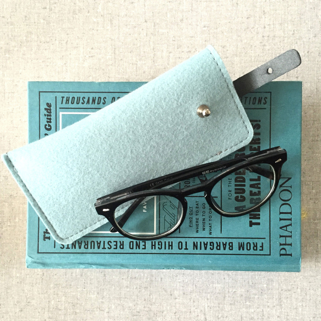 spectacle, case, wool, felt, vilt, wol, leather, brillenetui, rowold, leesbril