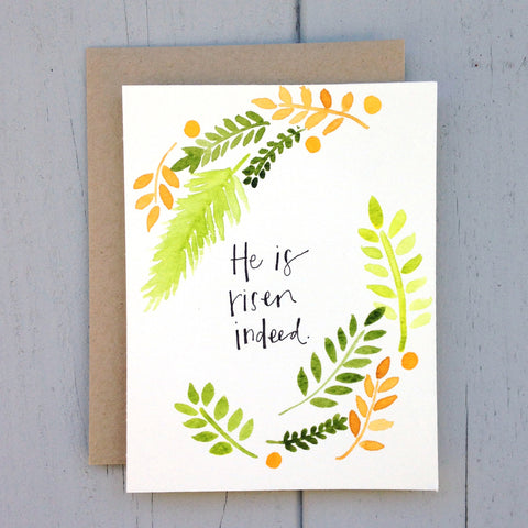 "Easter handmade card - ""risen indeed"""