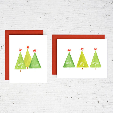 happy trees  - 8 card set