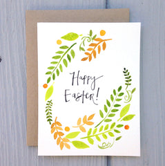"Easter handmade card - ""happy Easter"""