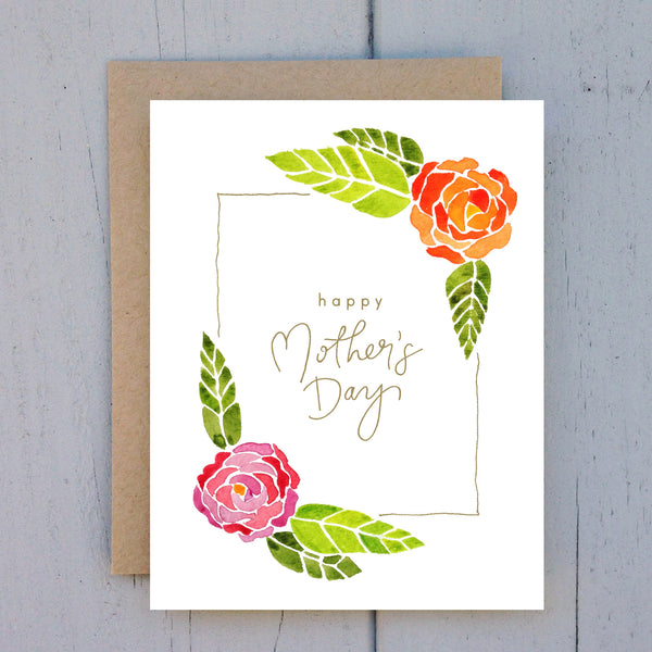mother's day ranunculus card