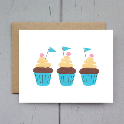 cupcakes card (or set of 8)