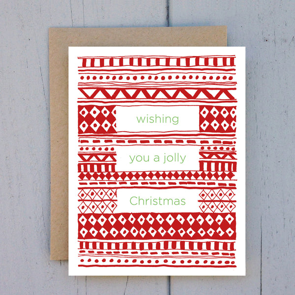 red sweater card