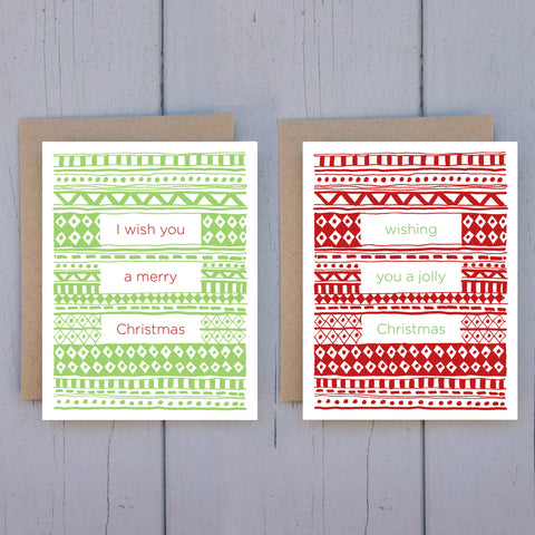 cozy sweaters - 8 card set