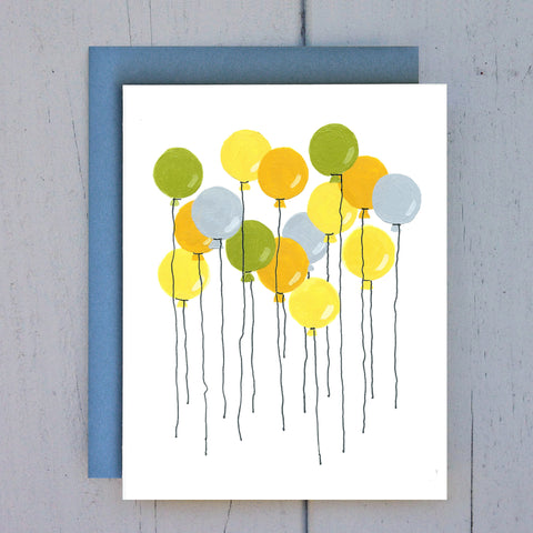 yellow balloons card