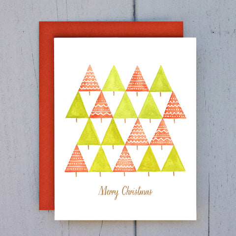 red + green forest card