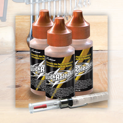 3 Bottles of Quick Release Oil Plus a Refillable Precision Oiler