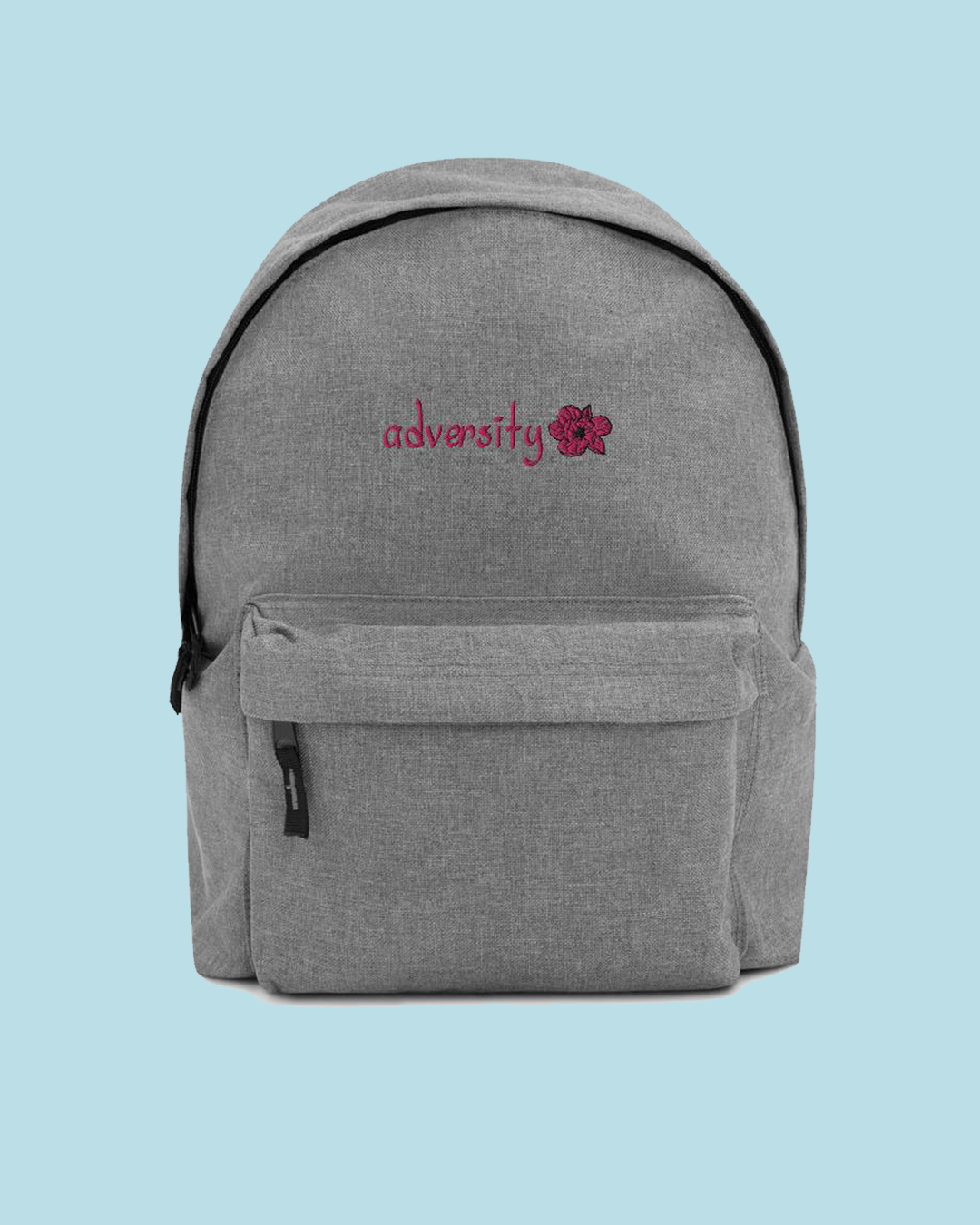 """Adversity"" Embroidered Backpack"