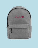 "Load image into Gallery viewer, ""Adversity"" Embroidered Backpack"