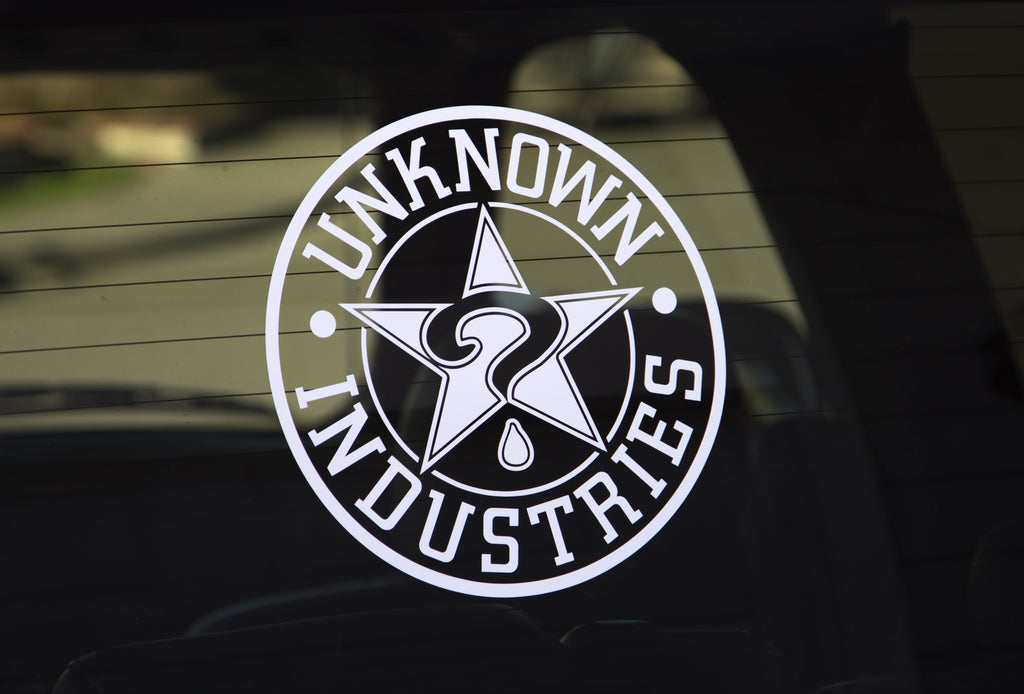 "Unknown Die Cut 10"" x 10"" Sticker"