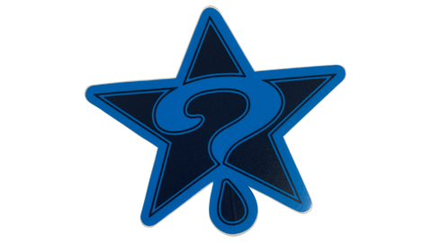BLUE/BLUE STAR STICKER