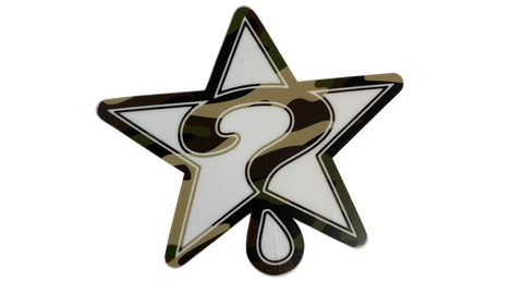 CAMO STAR STICKER