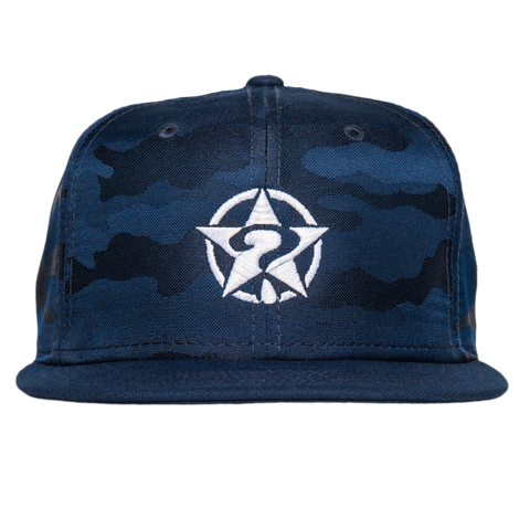 circle star new era hat (Blue Camo)