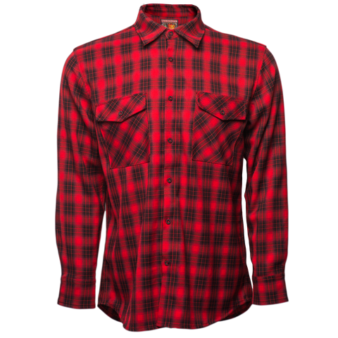 Red Frankenstein Flannel
