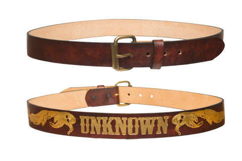Wild West Brown/Gold Leather Belt