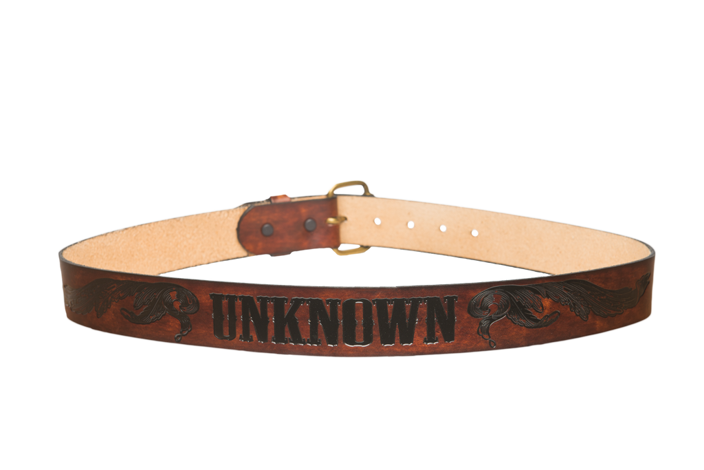Wild West Brown/Black Leather Belt