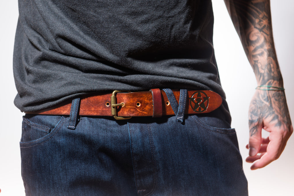 Brown Leather Belt (Black)