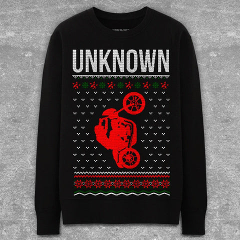 """Sleigh Ride"" Black Crewneck"